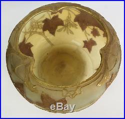 Grande Coupe Art Nouveau 1880 Signé Daum De Nancy En Pte De Verre Opalescent
