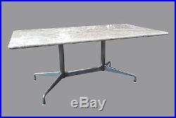 Grande Table Plateau Marbre Eames pour Herman Miller