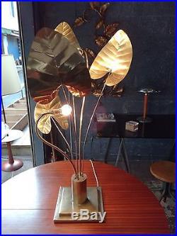 Grande lampe Tomasso BARBI design 1970 stand lamp laiton