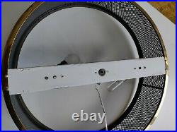 Grande lampe XXL par Pierre Guariche ARLUS 1950s applique plafonnier verre métal