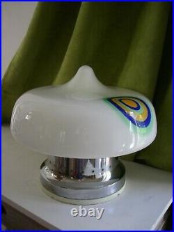 Grande lampe champignon 1960 Mazzega Stilnovo