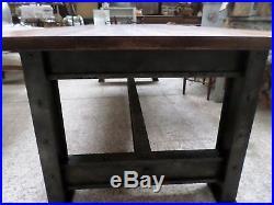 Grande table de repas toute en bois atelier industriel déco loft