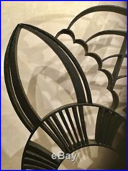 Grille Claustra Séparation Art Deco 1930 Fer Forgé Décoration