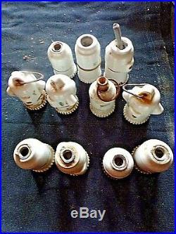 Gros lot-60 anciennes douilles-laiton/porcelaine/bakélite-électricité vintage
