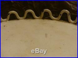 Guéridon de salon années 40/50 en fer, corde et bois (a décaper)gout jean Royère