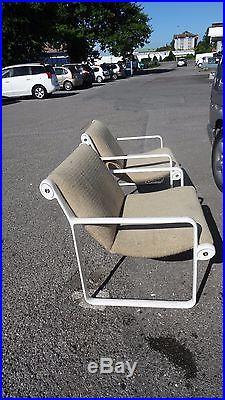 Hannah / Morrisson Ed Knoll Paire de fauteuils vintage design Lounge Chairs