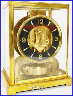 Horloge Pendule ATMOS Jaeger-Lecoultre Cal. 526.5 Laiton doré 1960s N°110 643