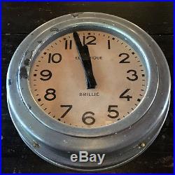 Horloge industrielle de marque Brillé, horloge de gare, pendule Brillé