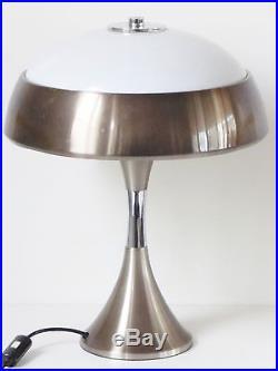 IMPORTANTE LAMPE DE BUREAU CHAMPIGNON 1970 VINTAGE SPACE AGE POP 70s LAMP