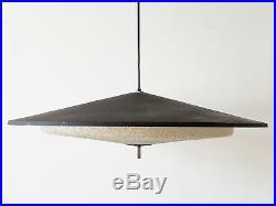 Important Lustre Soucoupe 1960 Metal & Resine Granite 60s Vintage Annees 60