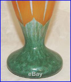 Imposant Vase Pate De Verre Art Deco Grave Schneider Le Verre Francais 1920