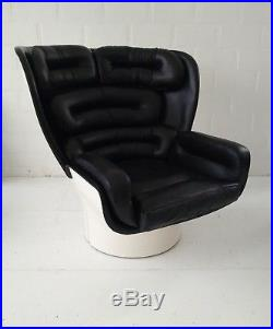 JOE COLOMBO ELDA CHAIR FAUTEUIL SESSEL COMFORT ITALY END 1960s BLACK & WHITE