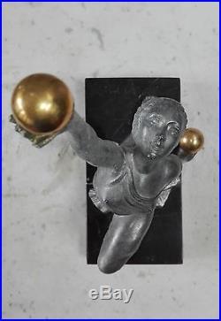 JOLIE STATUETTE SCULPTURE ART DÉCO 1930 DANSEUSE XXème