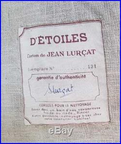 Jean Lurçat (1892-1966). D'étoiles. Tapisserie. Signée et numérotée