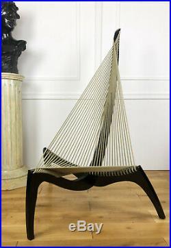 Jorgen Hovelskov (1935-2005) Chaise / Fauteuil Noir Modèle Harpe De 1963