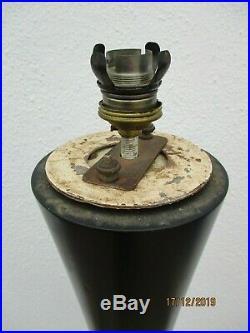 Joseph Andre Motte lampadaire diabolo bois acajou laque noir vers 1955