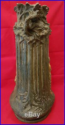 Jules Jouant Énorme Vase Art Nouveau Terre Cuite Terracotta Godchieder