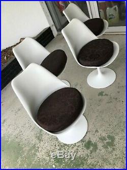 KNOLL Lot 4 CHAISES Tulipe Disign par Ereo SAARINEN Signe Chaise Tulip Chair Art