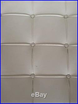 Knoll Barcelona Blanc Mies Van Der Rohe Original Coussin Pour Fauteuil