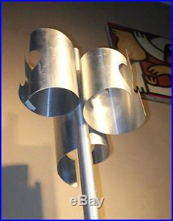 LAMPADAIRE 3 Lampe FEUILLE ALU VINTAGE DESIGN 50 60 70 métal space age