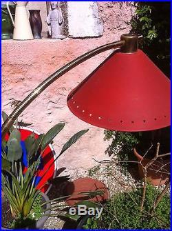 LAMPADAIRE Vintage lampe 1950 50's Lunel Mathieu design mid century floor lamp