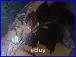 LAMPE ART DECO Champignon Patte de verre style Gallé vieux stock neuf parfait