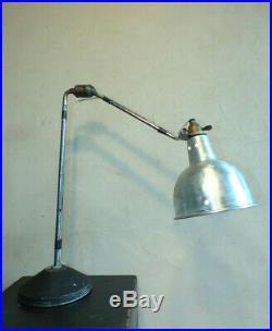 LAMPE ATELIER Georges HOUILLON 2 BRAS ARTICULé métal DESIGN INDUSTRIEL-PROUVé