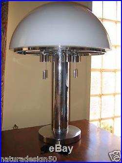 LAMPE BAUHAUS GLASHUTTE LIMBURG 6278 1970 / 80 Exceptionnelle