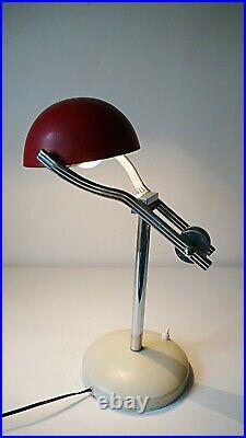 LAMPE BUREAU A BALANCIER BAUHAUS en METAL VINTAGE des ANNEES 50 DESIGN 1950