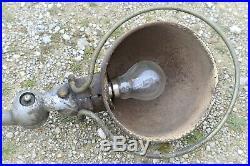 LAMPE JIELDE ANCIENNE LAMPE INDUSTRIELLE METAL AVEC SA PLAQUE DECO VINTAGE XXe