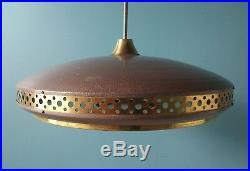 LAMPE SUSPENSION / LUSTRE Vintage années'60 UFO. Ø 55 cm