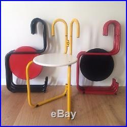 LUCA LEONORI PALLUCO 1 Chaise Pliante POSTMODERN design Chair 1980 Memphis RARE