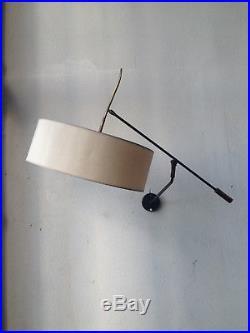 LUNEL lampe potence 1950 applique à bras ajustable Stilnovo Guariche Knoll rare