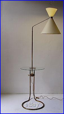 Lampadaire 1950 floor lamp light 50's vintage french lampe luminaire
