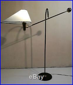 Lampadaire A Balancier Laiton French Floor Light Bronz MID Century 1950 Italian