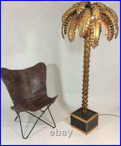 Lampadaire De Style Jansen En Forme De Palmier En Métal Doré De 181 CM De H