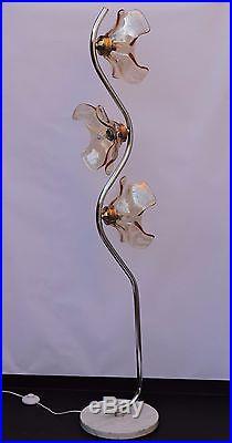 Lampadaire Fleur design Vintage Murano Lampe annees 60 Mazzega