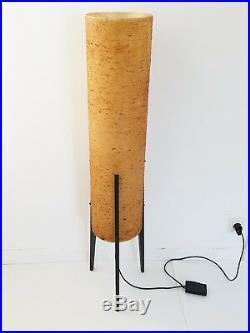 Lampadaire Rocket Tripode Vintage De Miroslav Divis 1970 Bois & Resine 70's 70s