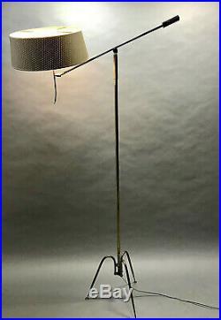 Lampadaire T644 1950 maison lunel 50s vintage mid century french floor lamp