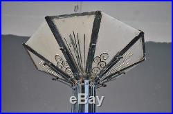 Lampadaire en fer forgé 1930 Art déco