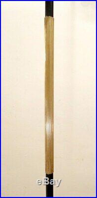 Lampadaire tripode vintage 1950 fer laiton Arlus Stilnovo Roger Fatus