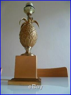 Lampe Ananas Vintage Le Dauphin Dlg Bagues Jansen Maison Charles Laiton & Bronze
