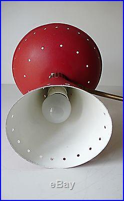 Lampe Applique Double Vintage design Guariche métal dorée 1950 années 50