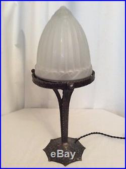 Lampe Art Deco Art Nouveau obus