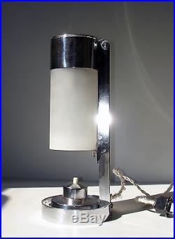 Lampe Art Deco Bauhaus BORIS LACROIX Mitis Table Lamp Alte Tischlamp 1930