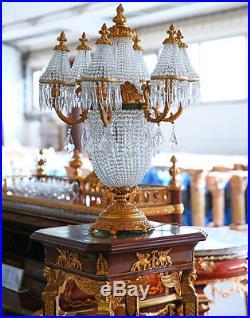 Lampe De Table Chevet En Cristal Bronze Style Belle Epoque Napoleon III Empire