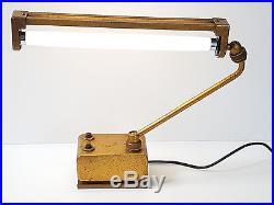 Lampe Industrielle Atelier Doree Mazda France Annees 40/ 50 Vintage 40's 50's