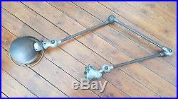 Lampe JIELDE 3 bras 40cm vintage loft usine