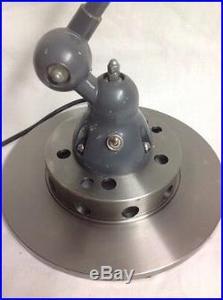 Lampe JIELDE Grise par Jean Louis Domecq 3 BRAS 40cm JLD 603 100% vintage
