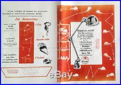 Lampe JIELDE par Jean Louis Domecq 2 BRAS JLD 58 100% vintage